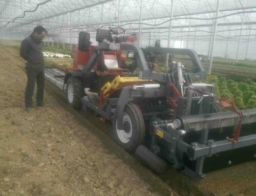 Automoteur porte outils en mode paillage et plantation